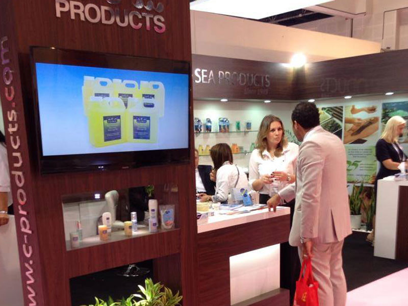 c-Products team with our guests at Beauty World Dubai 2014