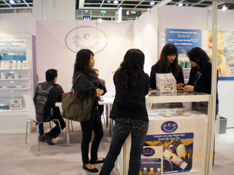 Guests at c-Products Booth in Cosmoprof Asia 2011