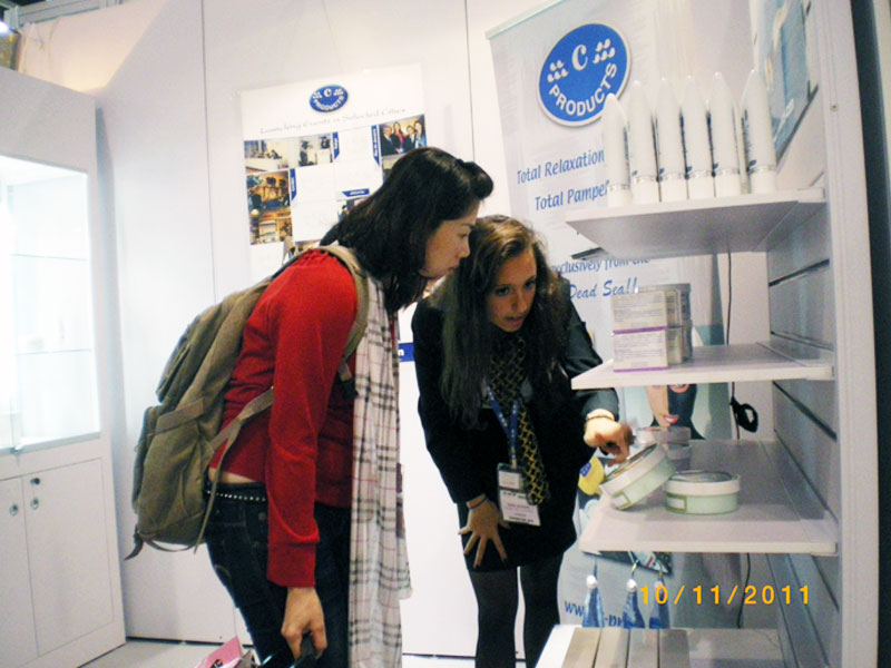 Clients checking c-Products at Cosmoprof Asia 2011
