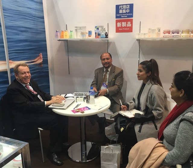 Gathering at c-Products Booth in Cosme Tokyo