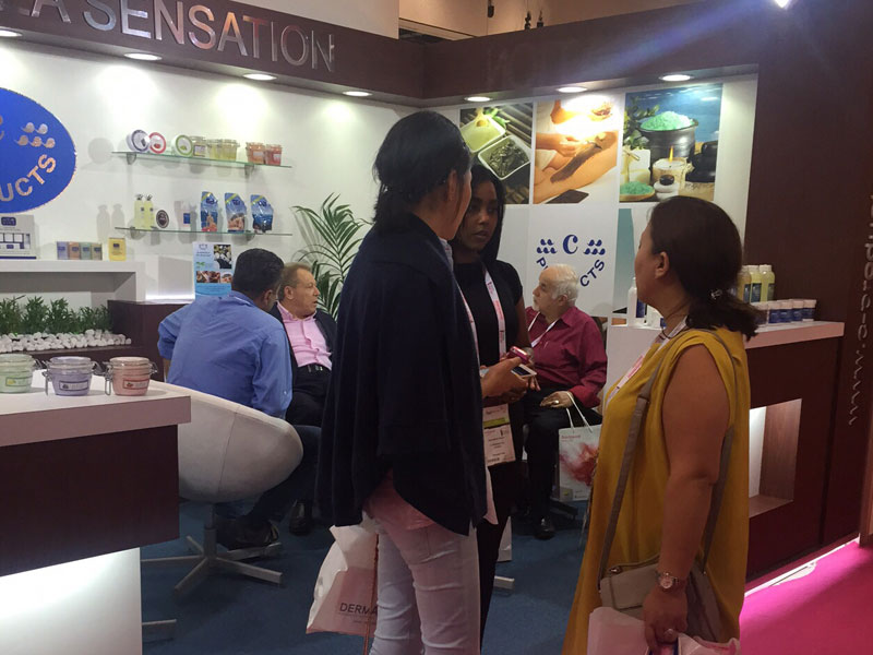 Explaining Why c-Products to our guests at Beauty world 2015