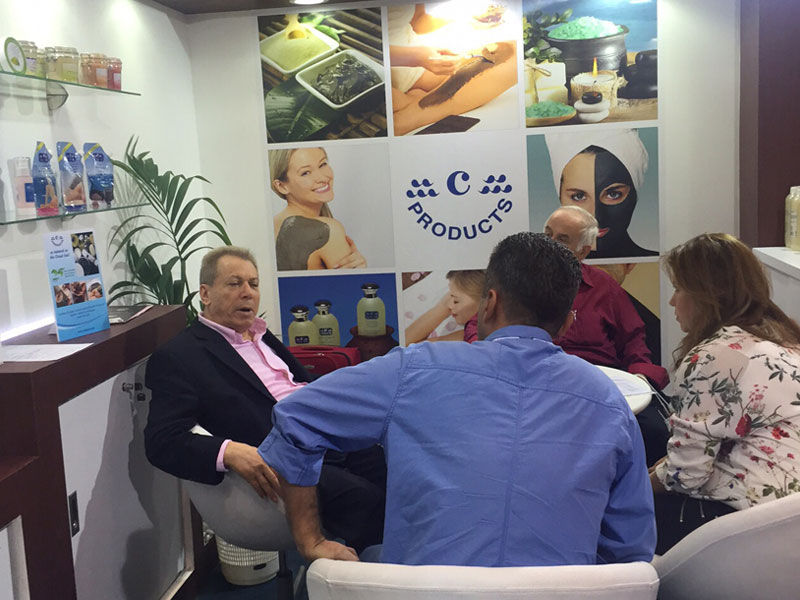 Our guests at c-Products Booth in Beauty world 2015