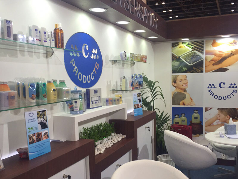 c-Products Booth at Beauty World 2015