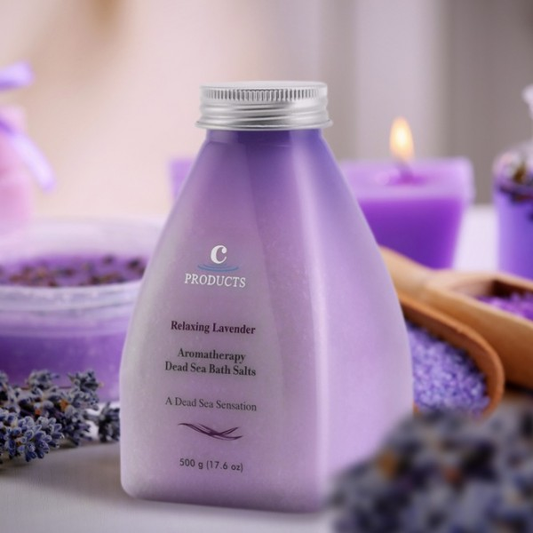 Aromatherapy Dead Sea Salts relaxing lavender C-Products